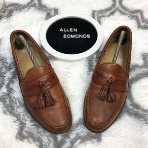 Allen Edmonds MAXFIELD Chestnut Tassel Loafers 10